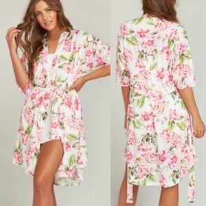Show Me Your Mumu Brie Robe GARDEN OF BLOOMS OS